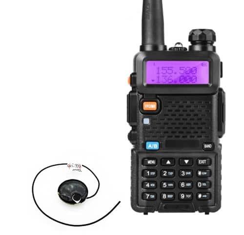 MICRÓFONO ESPÍA INALÁMBRICO UHF PROFESIONAL + RECEPTOR WALKIE TALKIE AUDIO HASTA 500M