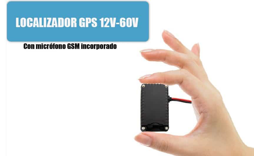 MINI LOCALIZADOR GPS PARA COCHE FURGONETA CAMIÓN CON MICRÓFONO GSM 12V A 60V