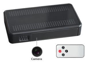 CÁMARA OCULTA EN CAJA NEGRA FULL HD 1080P H.264 LENTE GRAN ANGULAR DETECTOR DE MOVIMIENTO PIR 10000mAH PROFESIONAL