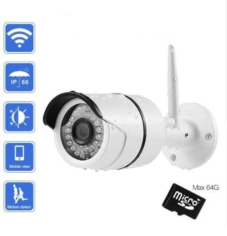 CÁMARA DE VÍDEO VIGILANCIA CCTV 720P WIFI P2P DVR INTEGRADO HASTA 64GB VISIÓN NOCTURNA