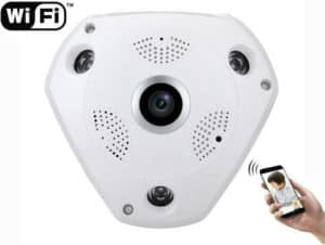 CÁMARA DE VIGILANCIA WIFI IP P2P HD 960P 1.3 MEGAPIXEL 360 GRADOS VISIÓN NOCTURNA