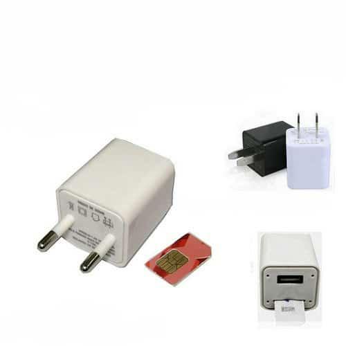 MICRÓFONO GSM ESPÍA EN CARGADOR USB DE APPLE IPHONE GEOLOCALIZACION