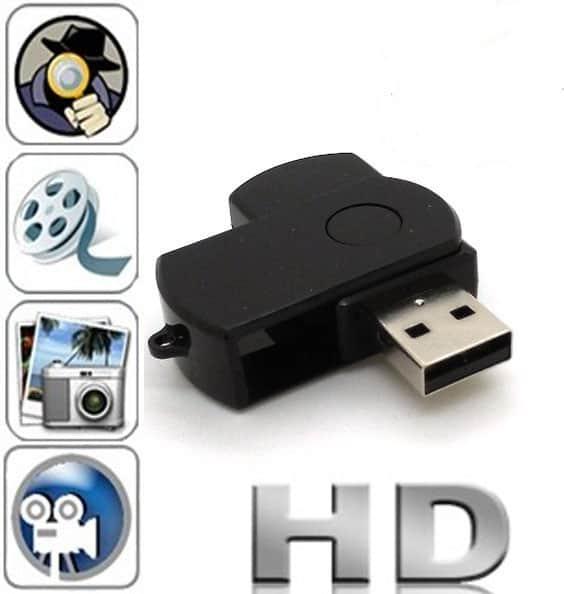 MINI CÁMARA ESPÍA DVR OCULTA EN MEMORIA USB PENDRIVE HD 960P