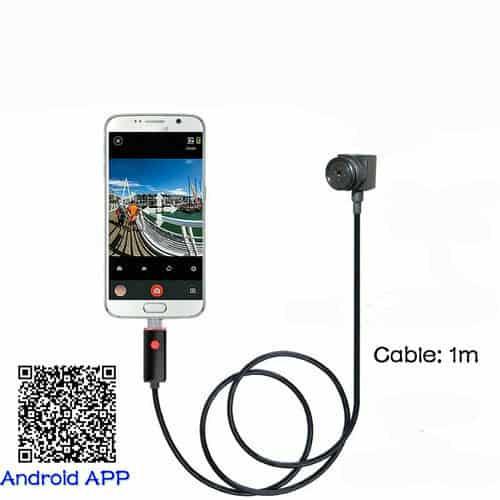 CÁMARA ESPÍA OCULTA EN BOTÓN CON CABLE USB 1M PARA CONECTAR A SMARTPHONE ANDROID