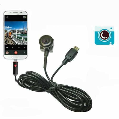 CÁMARA ESPÍA OCULTA GRAN ANGULAR 170 GRADOS CON CABLE USB 1M PARA CONECTAR A SMARTPHONE ANDROID
