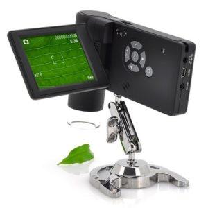MICROSCOPIO DIGITAL PORTÁTIL 500 X AUMENTOS CON PANTALLA LCD 3′