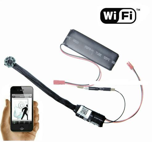 MÓDULO CÁMARA ESPÍA INALÁMBRICA WIFI P2P FULL HD 1080P 5 MEGAPIXEL GRABACIÓN MICRO SD VISIÓN NOCTURNA ANDROID IPHONE PROFESIONAL