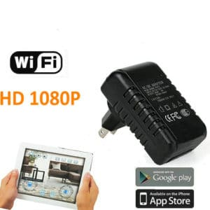 CÁMARA ESPÍA INALÁMBRICA WIFI P2P OCULTA EN CARGADOR TRANSFORMADOR DE PARED FULL HD 1080P GRABACIÓN MICRO SD