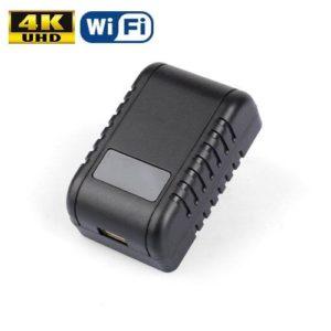 CARGADOR ESPÍA USB WIFI 4K CON VISIÓN NOCTURNA
