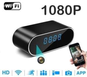 RELOJ ESPÍA DE SOBREMESA WIFI P2P FULL HD 1080P DETECCIÓN DE MOVIMIENTO